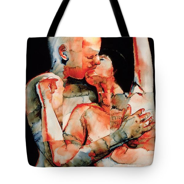 The Kiss Tote Bag by Graham Dean