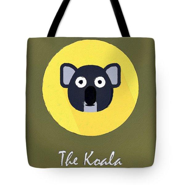 The Koala Cute Portrait Tote Bag by Florian Rodarte
