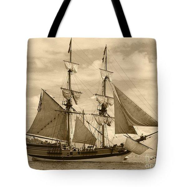 The Lady Washington Ship Tote Bag by Kym Backland