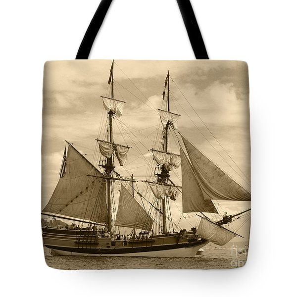 The Lady Washington Ship Tote Bag by Kym Backland