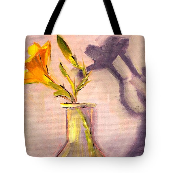The Last Lily Tote Bag by Nancy Merkle