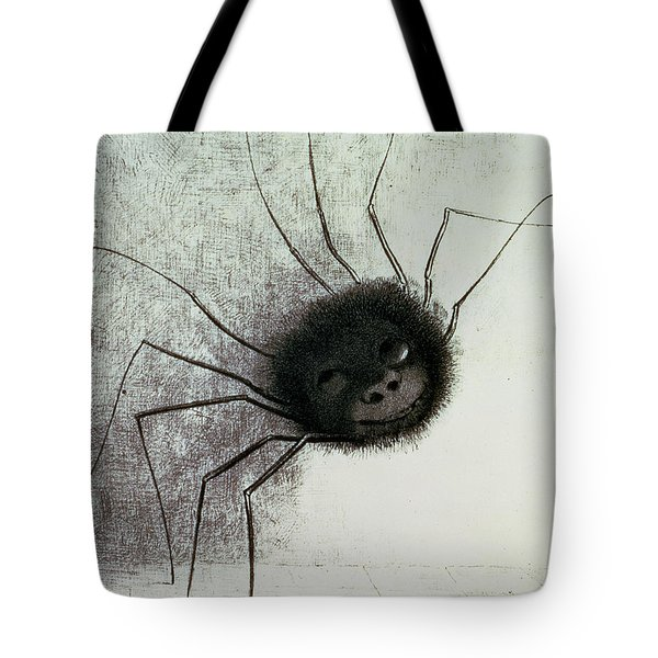 The Laughing Spider Tote Bag by Odilon Redon