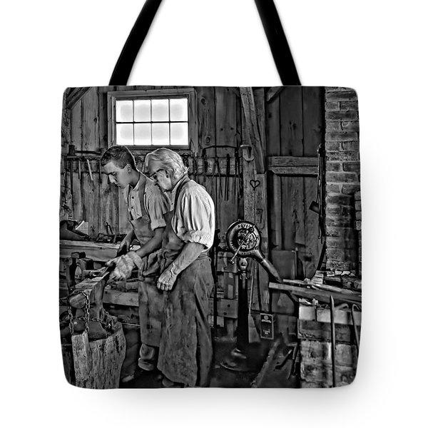 The Lesson Monochrome Tote Bag by Steve Harrington