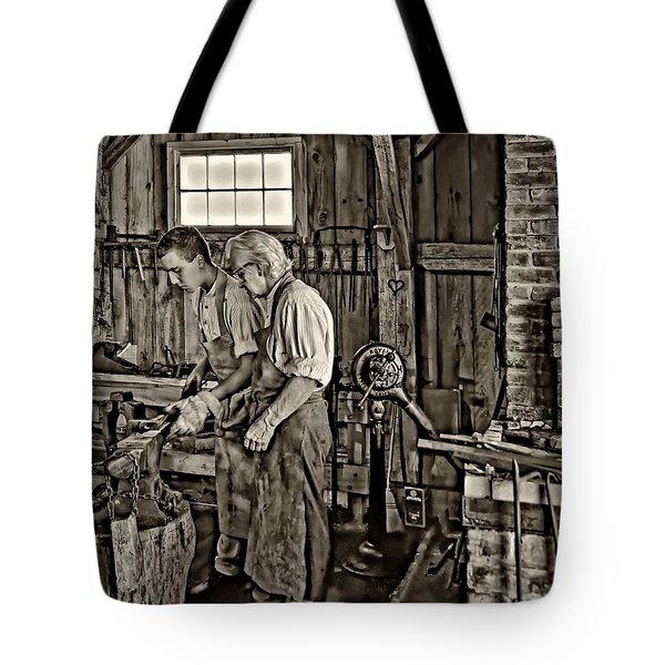 The Lesson sepia Tote Bag by Steve Harrington