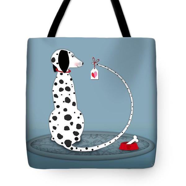 The Letter D For Dalmatian Tote Bag by Valerie Drake Lesiak