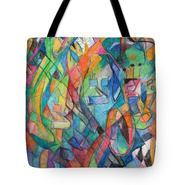 the letter Tzadi 2 Tote Bag by David Baruch Wolk