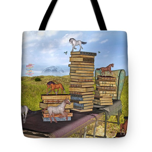 The Library Your Local Treasure Tote Bag by Betsy C Knapp