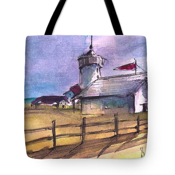 The Lighthouse Tote Bag by Diane Strain