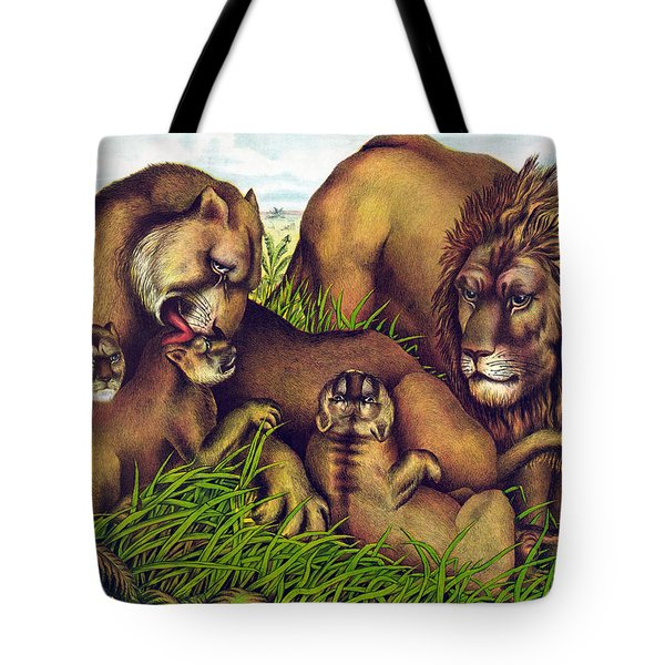 The Lion Family Tote Bag by Nomad Art And  Design