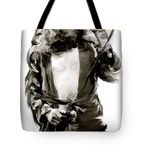 The Lion  Robert Plant Tote Bag by Iconic Images Art Gallery David Pucciarelli