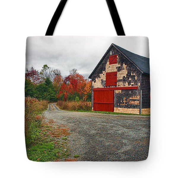 The Little Barn Tote Bag by Marcia Colelli