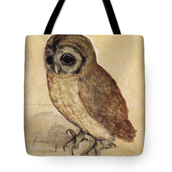 The Little Owl 1508 Tote Bag by Albrecht Durer
