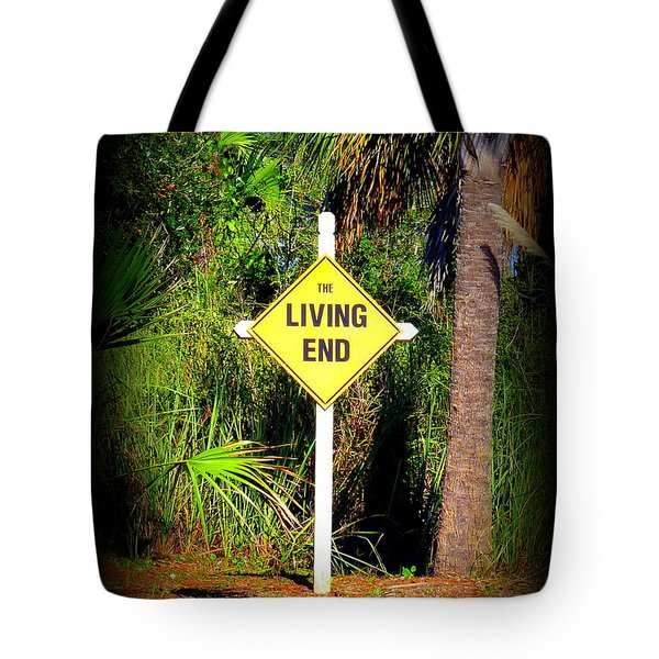 The Living End Tote Bag by Carla Parris