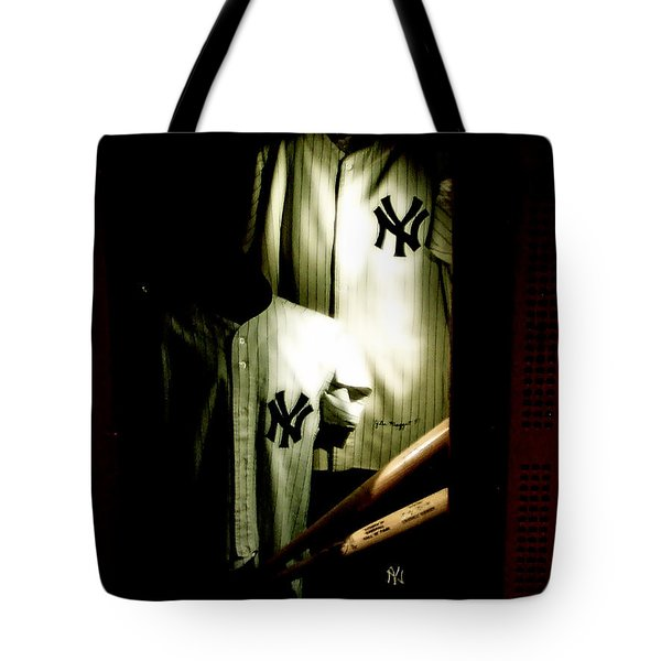 The Locker  Mickey Mantle's And Joe Dimaggio's Locker Tote Bag by Iconic Images Art Gallery David Pucciarelli