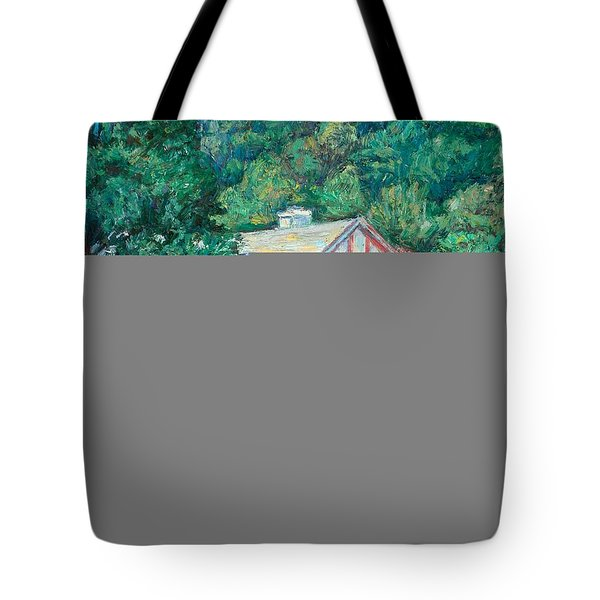 The Lodge at Peaks of Otter Tote Bag by Kendall Kessler