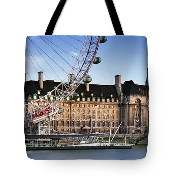 The London Eye And County Hall Tote Bag by Rod McLean