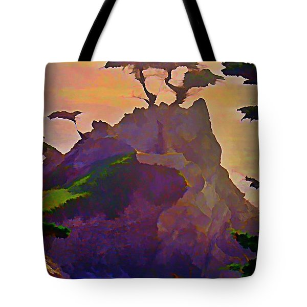 The Lone Cypress Tote Bag by John Malone