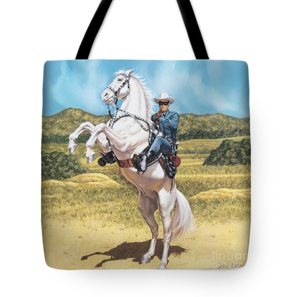 The Lone Ranger Tote Bag by Dick Bobnick