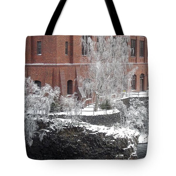The Lone Sentinel - Spokane Washington Tote Bag by Daniel Hagerman