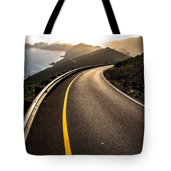 The Long and Winding Road Tote Bag by John Daly