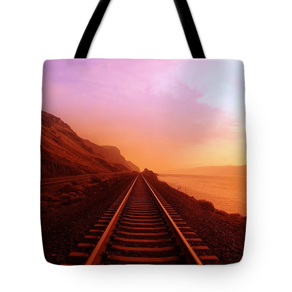 THE LONG WALK TO NO WHERE  Tote Bag by Jeff  Swan