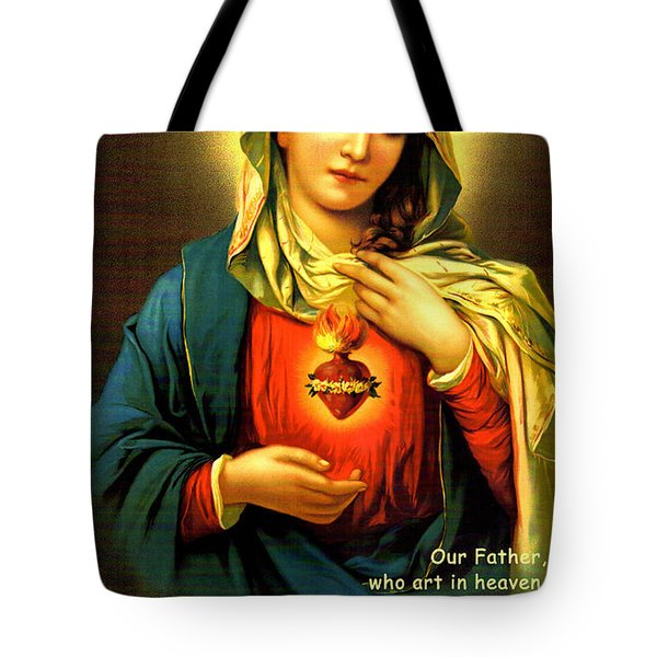 The Lord's Prayer Tote Bag by Barbara Snyder