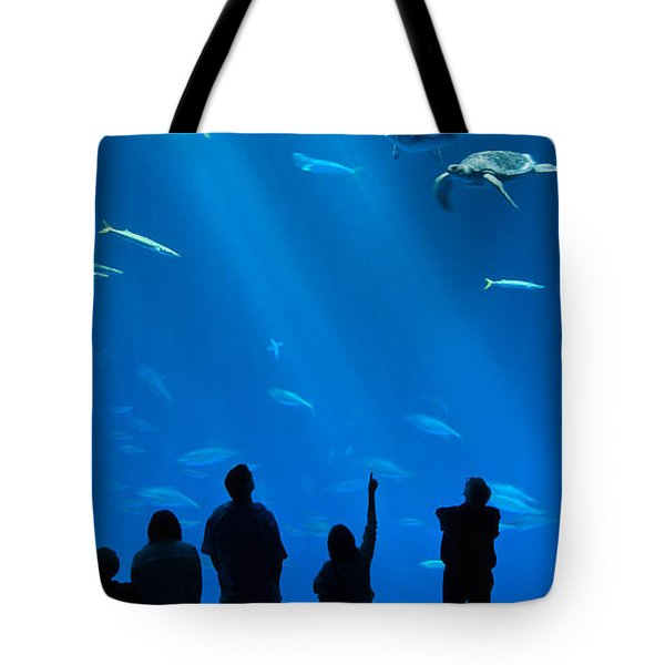 The Magnificent Open Sea Exhibit At The Monterey Bay Aquarium. Tote Bag by Jamie Pham