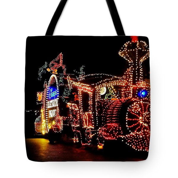 The Main Street Electrical Parade Tote Bag by Benjamin Yeager