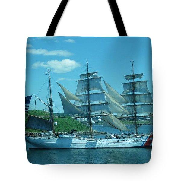 The Majestic Us Coast Guard Tote Bag by John Malone