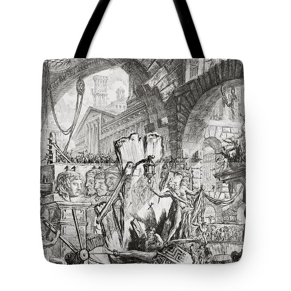 The Man On The Rack Plate II From Carceri D'invenzione Tote Bag by Giovanni Battista Piranesi