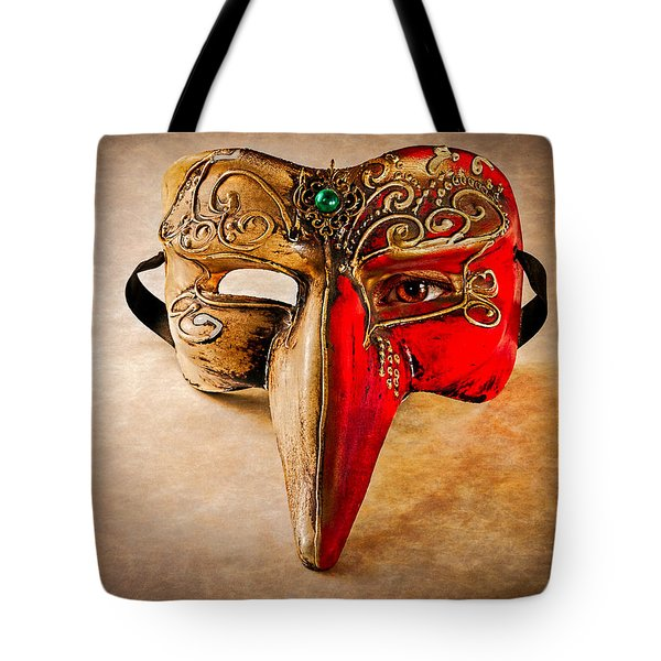 The Mask on the floor Tote Bag by Bob Orsillo
