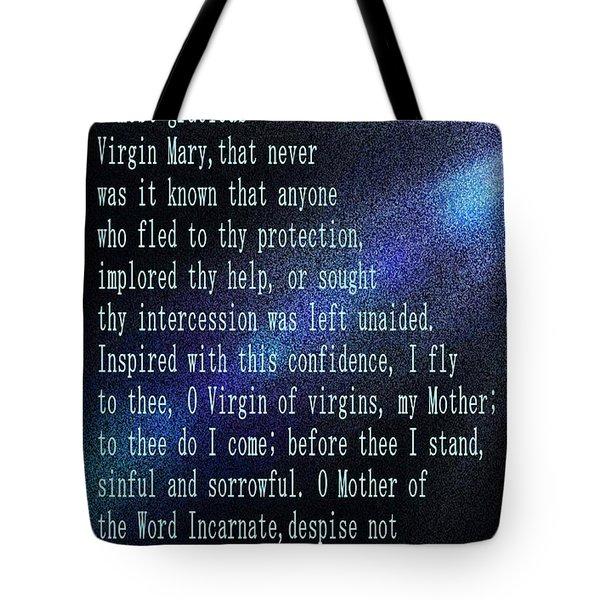 The Memorare Tote Bag by Barbara Griffin