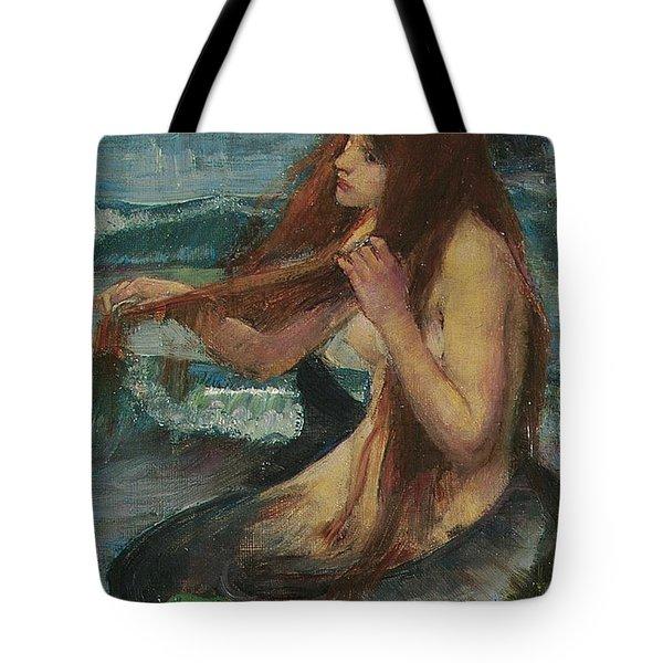 The Mermaid Tote Bag by John William Waterhouse
