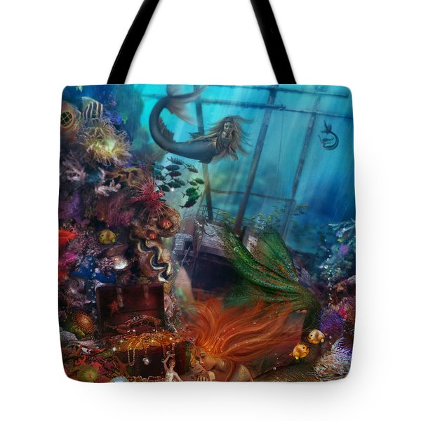 The Mermaids Treasure Tote Bag by Aimee Stewart