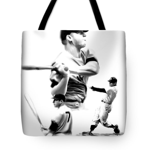 The Mick  Mickey Mantle Tote Bag by Iconic Images Art Gallery David Pucciarelli