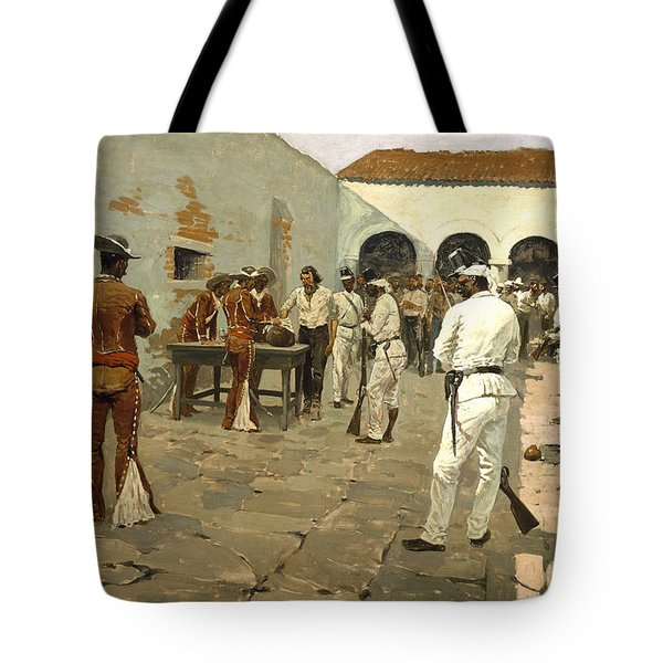 The Mier Expedition Tote Bag by Fredrick Remington