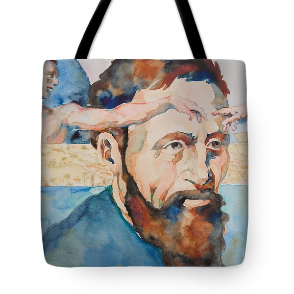 The Mind of Michelangelo Tote Bag by Michele Myers