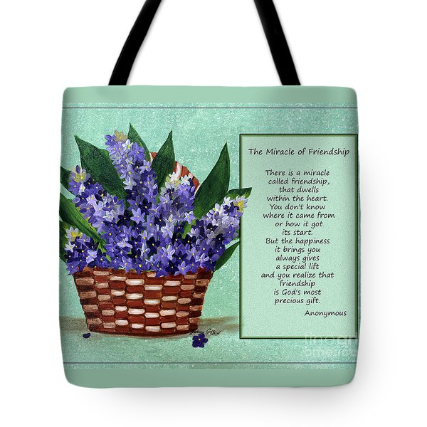 The Miracle of Friendship Tote Bag by Barbara Griffin