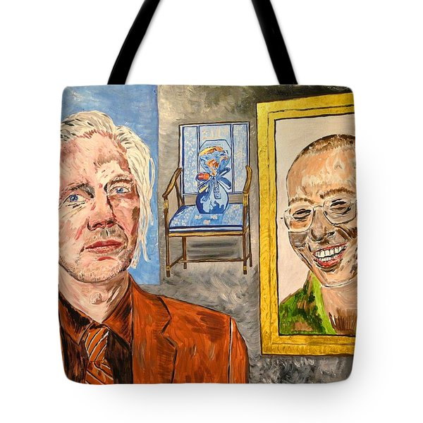 The Mirrored Truth Tote Bag by Valerie Ornstein