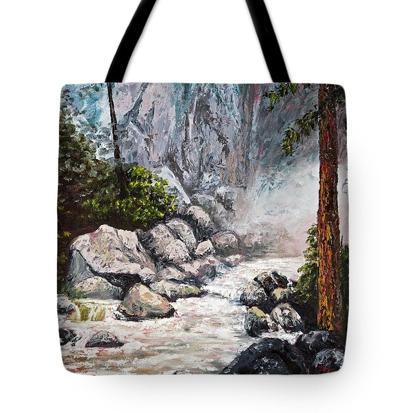 The Mist At Bridalveil Falls Tote Bag by Darice Machel McGuire