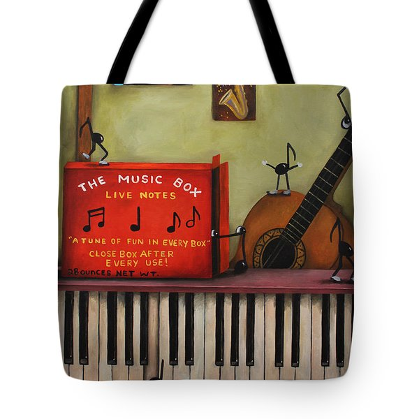 The Music Box Tote Bag by Leah Saulnier The Painting Maniac