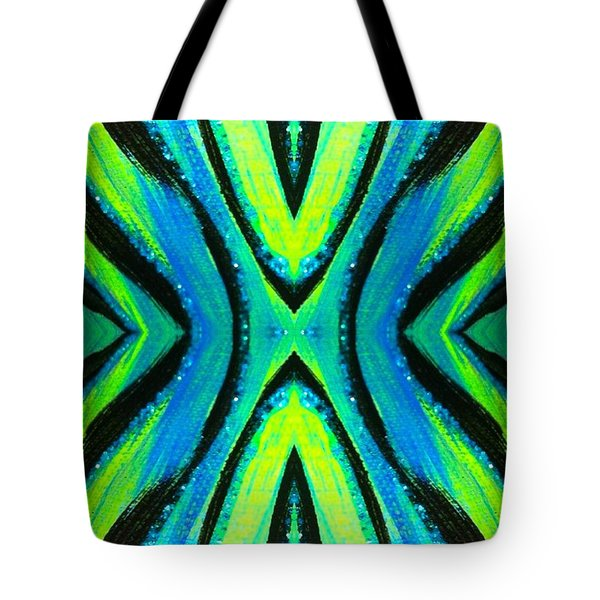 The Neon Zebra Tote Bag by Drew Goehring