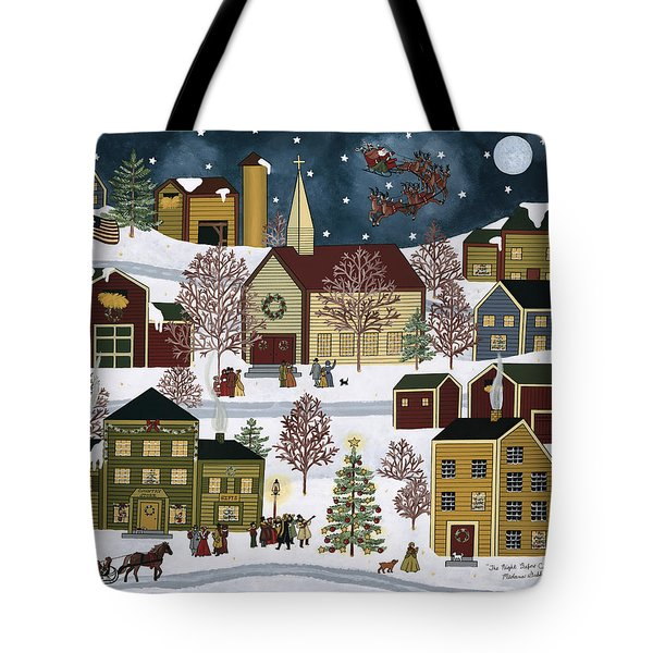 The Night Before Christmas Tote Bag by Medana Gabbard