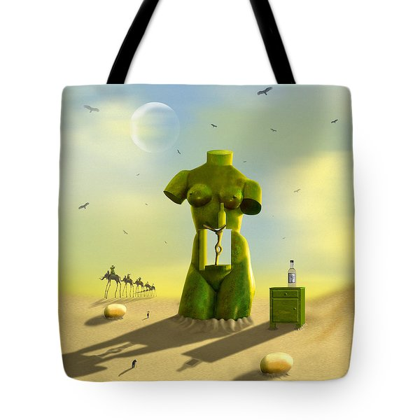 The Nightstand Tote Bag by Mike McGlothlen