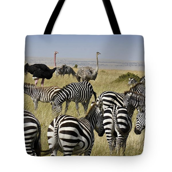 The Odd Couple Tote Bag by Michele Burgess