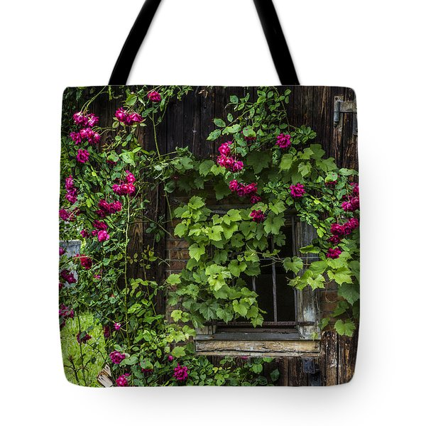 The Old Barn Window Tote Bag by Debra and Dave Vanderlaan