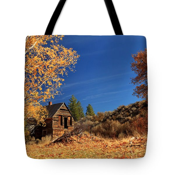 The Old Bunkhouse Landscape Tote Bag by James Eddy