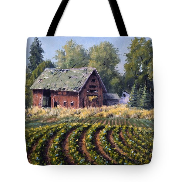The Old Farmstead Tote Bag by Rick Hansen