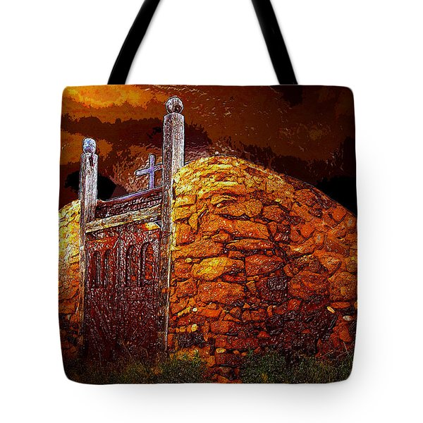 The Old Gates Of Galisteo Tote Bag by David Lee Thompson