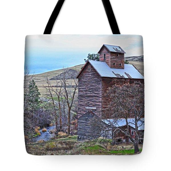 The Old Grain Storage Tote Bag by Steve McKinzie